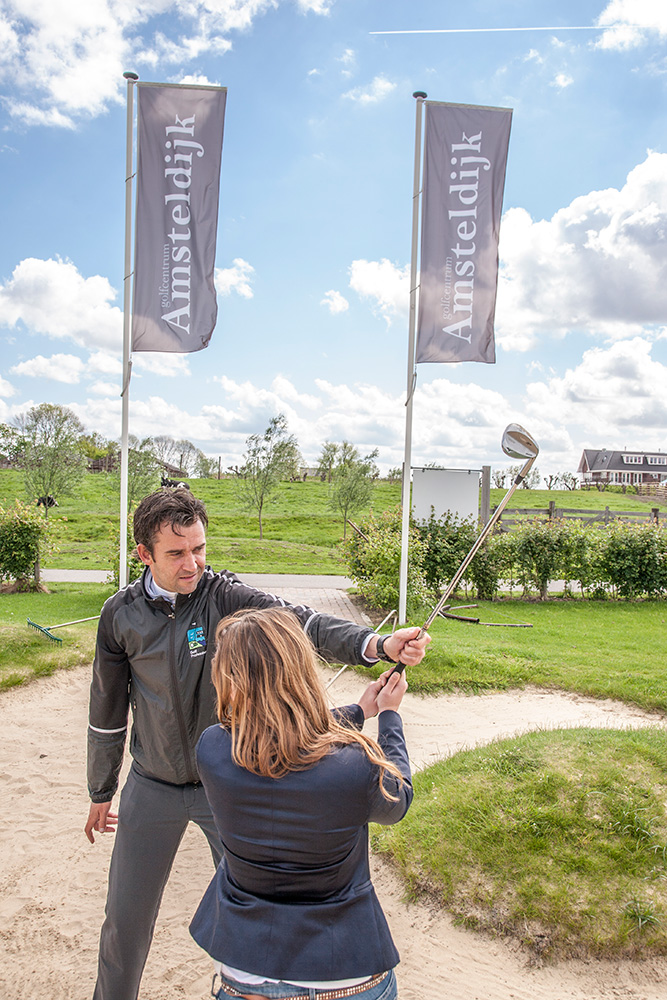 Golfcentrum Amsteldijk, ,reeclame, fotografie, grafische vormgeving, Aalsmeer, Andries van der Ree